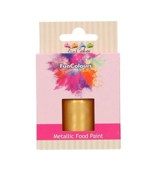 FunCakes Lebensmittelfarbe - metallic gold - 30 ml