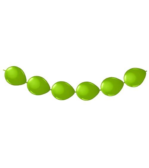 Kettenballons - hellgrün - 8 Stück