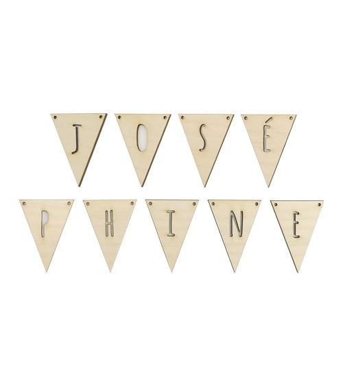 Deine Dreieck-Wimpel mit Wunschtext - 6 bis 10 Stück