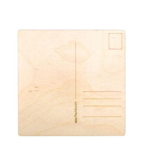 Holz-Postkarten - 2 Stück