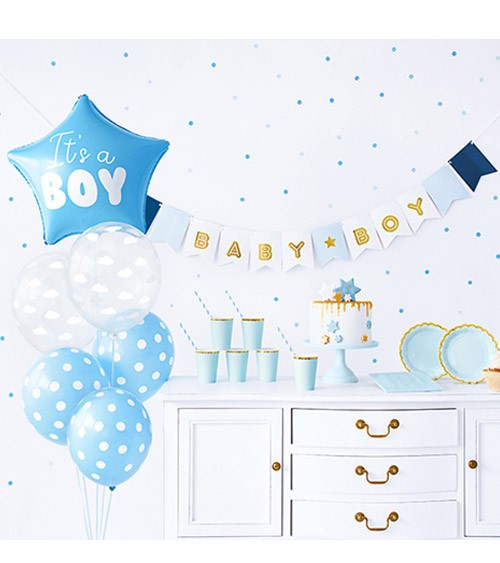 "Babyparty-Deko-Set ""It's a Boy"" - 49-teilig"