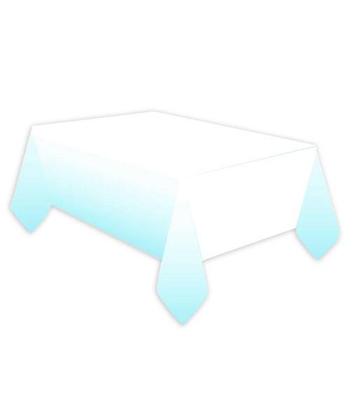 Papier-Tischdecke - hellblau ombre - 120 x 180 cm