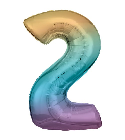 "Supershape-Folienballon ""2"" - Rainbow - 83 cm"