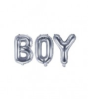 "Folienballon-Set ""BOY"" - silber - 35 cm"
