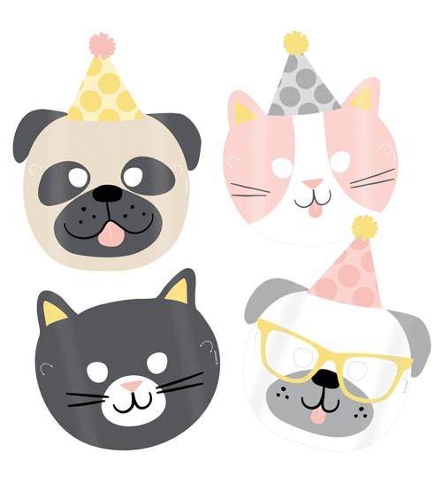 "Kindermasken ""Cats & Dogs"" 8 Stück"