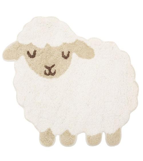 """Kleiner Teppich aus Baumwolle """"Schäfchen"""" - 56 x 57 cm"""