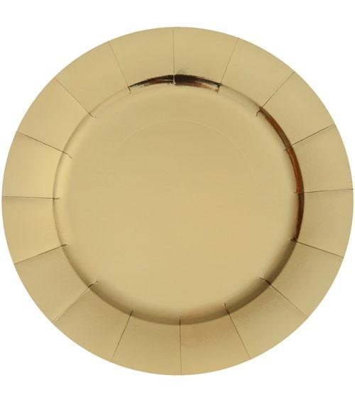 Servierteller aus Pappe - metallic gold - 10 Stück