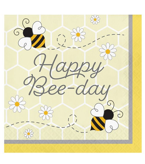 "Servietten ""Kleine Biene"" - Happy Bee-Day - 16 Stück"