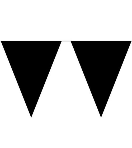 XL-Wimpelgirlande aus Kunststoff - schwarz - 10 m