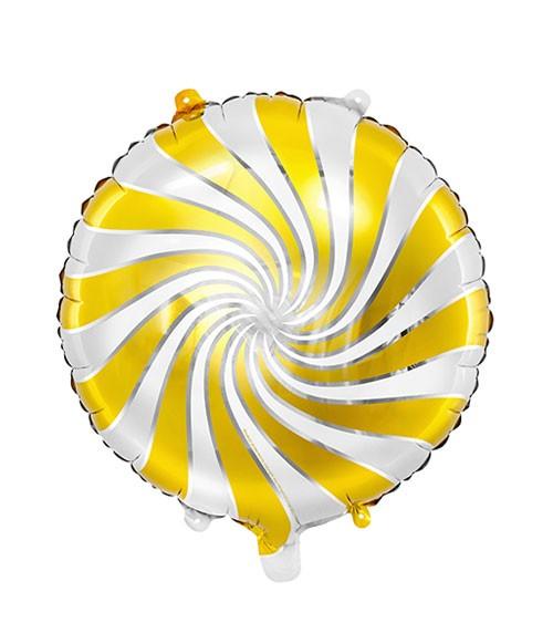"""Folienballon """"Candy"""" - gold & weiß - 35 cm"""