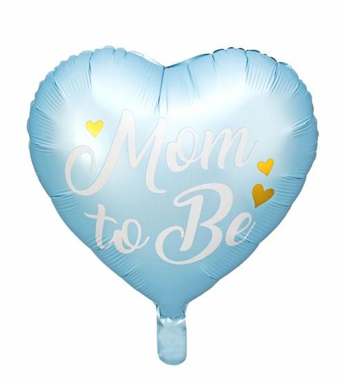 "Herz-Folienballon ""Mom to Be"" - hellblau - 35 cm"