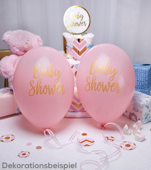 """Luftballons """"Baby Shower"""" - rosa - 8 Stück"""