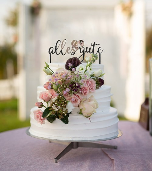"""Dein Cake-Topper """"Name Script"""" aus Acrylspiegel - Wunschtext"""