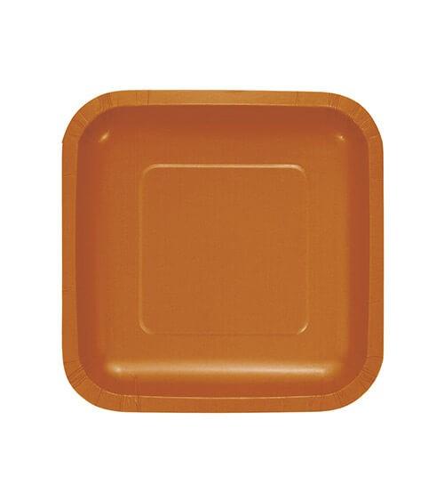 Kleine eckige Pappteller - pumpkin - 18 Stück