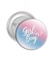 """Button """"Girl or Boy?"""""""