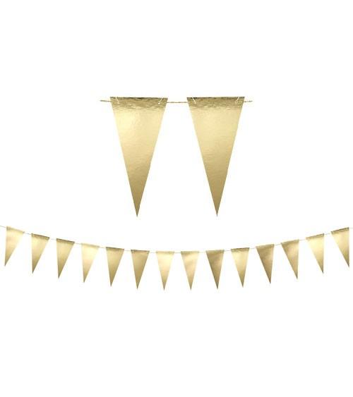 DIY-Wimpelgirlande - metallic gold - 2,15 m