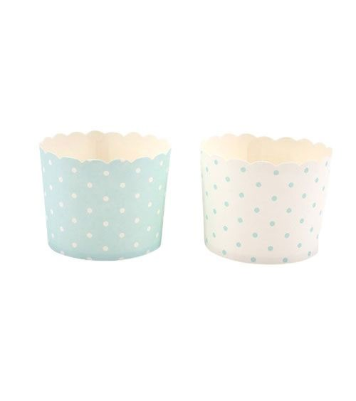Süßigkeitenboxen mit Pünktchen - mint & weiß - 10-teilig