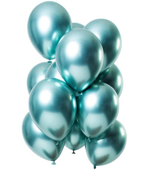 """Luftballons """"Mirror Effekt"""" - mintgrün - 12 Stück"""