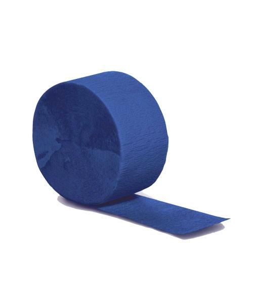 Deko-Kreppband - kobaltblau - 24,6 m
