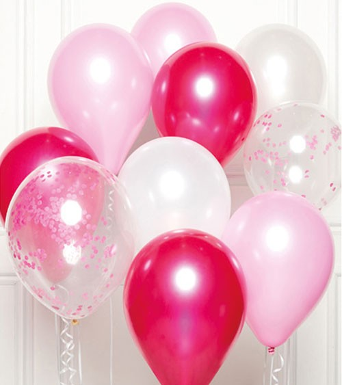 "Luftballon-Set ""Bouquet Pink"" - 11-teilig"
