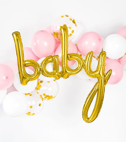 "Ballon-Set ""Baby"" - gold, rosa & weiß - 26-teilig"