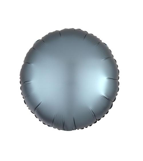 """Runder Folienballon """"Satin Luxe"""" – stahlblau – 43 cm"""