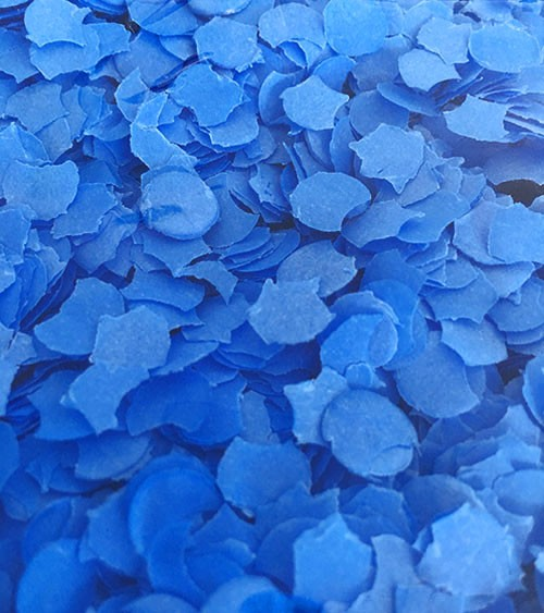 Papierkonfetti - 100 g - dunkelblau