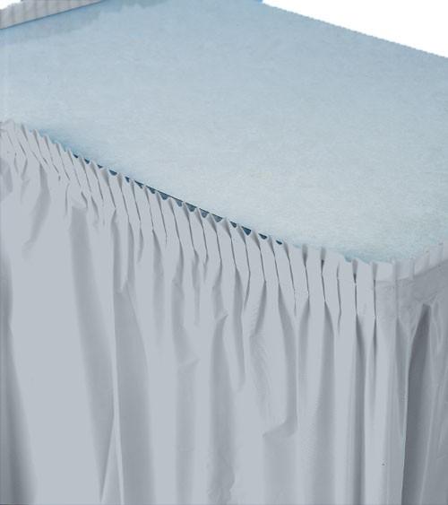 Tischverkleidung - silbergrau - 4,26 m