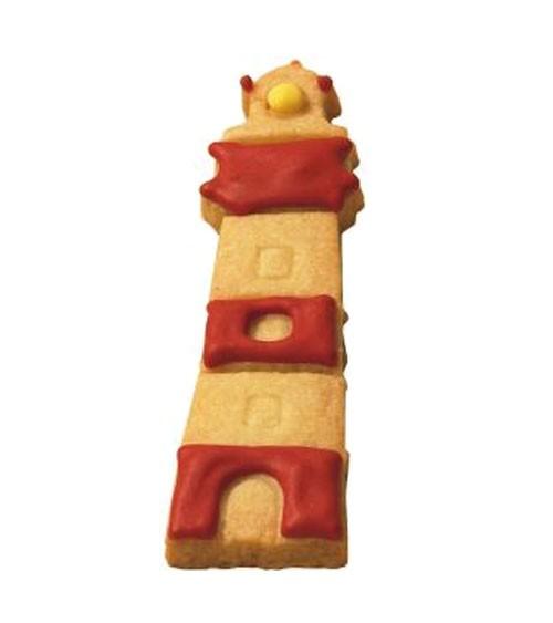 Ausstechform mit Innenprägung Leuchtturm - 9 cm