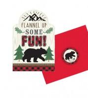 """Einladungskarten mit Sticker """"Wild One"""" - 8 Stück"""