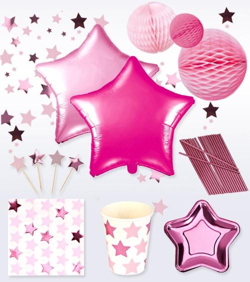 "Deko-Set ""Little Star Pink"" - 40-teilig"