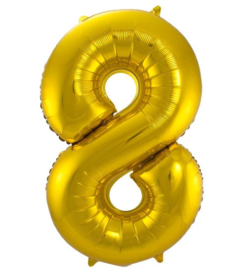 "SuperShape Folienballon ""8"" - gold"