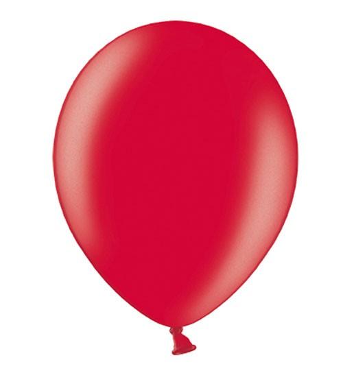 Metallic-Luftballons - rot - 50 Stück