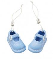 Babyschuhe aus Keramik - hellblau - 5,3 cm - 1 Paar
