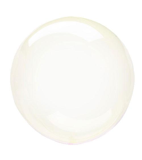 "Kugel-Folienballon ""Clearz Crystal"" - gelb - 45-56 cm"