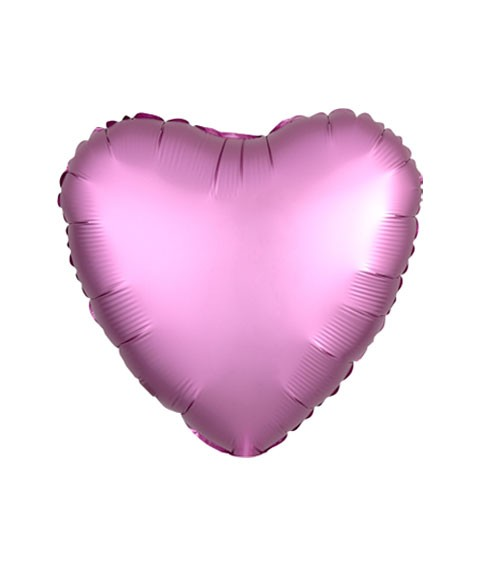 "Herz-Folienballon ""Satin Luxe"" – rosa – 43 cm"