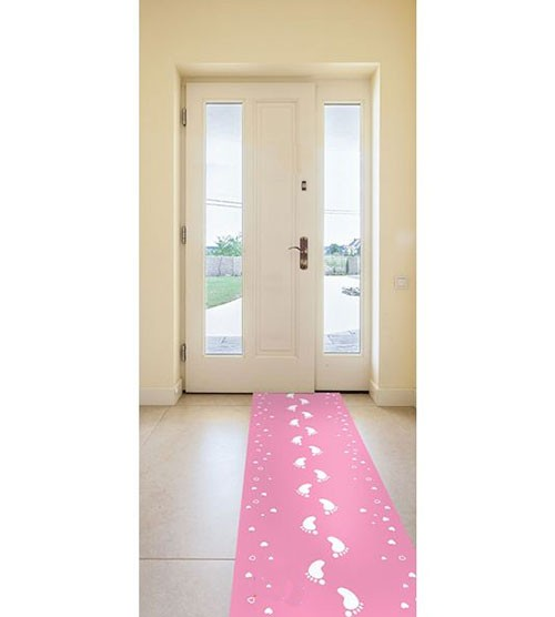 "Läufer ""Babyfüßchen"" - rosa - 0,53 x 2,5 m"
