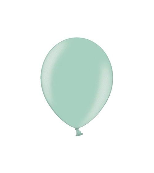 Mini-Luftballons - metallic mintgrün - 12,5 cm - 100 Stück