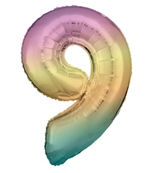 "Supershape-Folienballon ""9"" - Rainbow - 83 cm"
