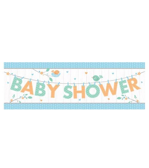 """Baby Shower-Partybanner """"Hello Baby - blau"""" - 152 cm"""