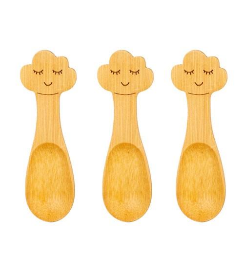 """Baby-Löffel-Set aus Bambus """"Wolke"""" - 3-teilig"""