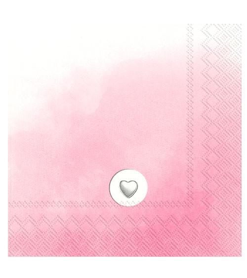 """Servietten """"Little Powder"""" - rosa - 20 Stück"""