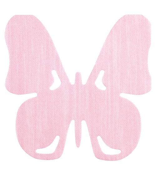 "Airlaid-Servietten ""Schmetterling"" - rosa - 12 Stück"