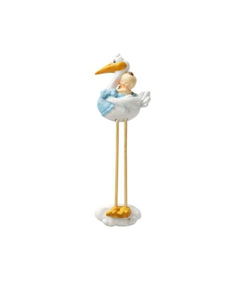 Storch mit Baby-Junge - 2D - 7,5 cm