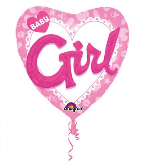 "Multi-Folienballon mit 3D-Effekt ""Baby Girl"""