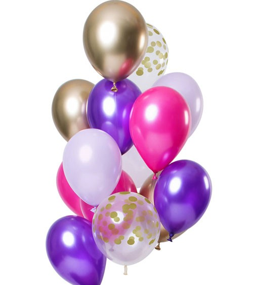 "Luftballon-Set ""Purple Posh"" - 12-teilig"