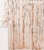 Fransenvorhang - rosegold metallic - 0,91 m x 2,44 m