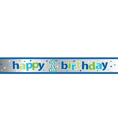 "Folienbanner ""1st Birthday - Boy"" - 1,83 m"