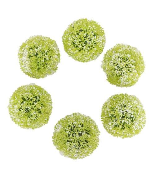 Künstliche Zierlauch-Blüten - 6 Stück