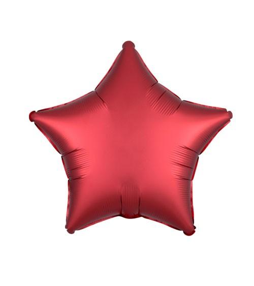 """Stern-Folienballon """"Satin Luxe"""" - rot - 48 cm"""